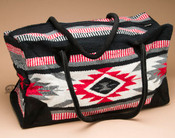 Native Southwest Weekender Rug Bag -Red & White