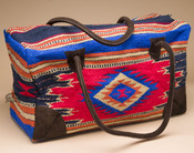 Native Southwestern Weekender Bag -Red