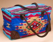 Native Southwest Weekender Rug Bag -Turquoise