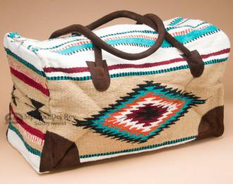 Native Southwestern Weekender Rug Bag -Tan