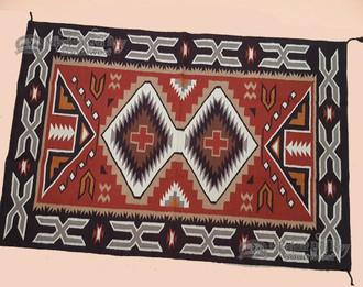 Southwestern Handwoven Wool Rug & Pad 4x6