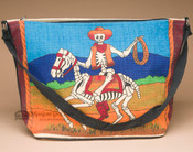 Cotton Day Of Dead Purse -Skeleton Cowboy Lasso