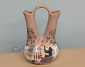 Native American Navajo Wedding Vase -Flute Player