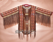 Classic Native American Double Beaded War Shirt