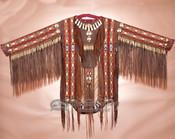 Classic Native American Double Beaded War Shirt