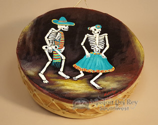 Painted Drum -Day of the dead Dancers