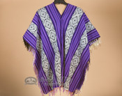 V Neck Poncho -Wool