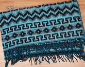 Alpaca Blanket Fleece Blanket -Turquoise