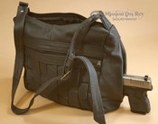 Leather Concealed Carry Purse -Basket Weave