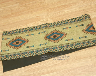 Southwest Tapestry Table Runner- Tan and Turquoise
