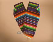 Youth Size Mexican Style Serape Poncho- Purple