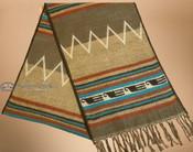 Traditional Southwestern Scarf - Tan