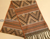 Southwestern Rustic Style Scarf - Brown