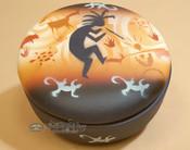 Handpainted Navajo Pottery Jewelry Bowl.