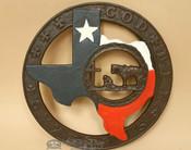 Rustic Metal Art Texas Trivet