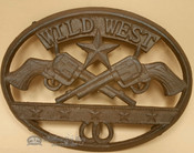 Southwestern Metal Art Trivet -Wild West Texas Star
