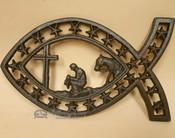 Southwestern Metal Art Prayer Fish