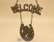 Rustic Metal Art - Welcome Horse