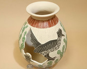 Mata Ortiz Road Runner Pottery Vase by Lupe Soto