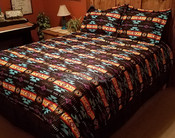 Southwestern Comforter Bed Set -Black
