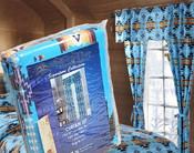 Southwest Blaze Curtain Set -Turquoise
