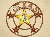 Rustic Metal Texas Star 12""