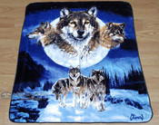 Native Style Luxury Plush Blanket - Wolf Pack