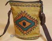Southwestern Crossbody Bag - Orange Cream