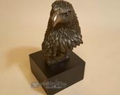 "Southwestern Rustic Bronze Statue 7.5"" - Eagle Head"