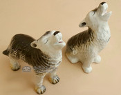 "Southwestern Salt & Pepper Shakers 5"" - Wolves"