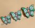 Hand Painted Southwestern Butterflies -Set of 3 Green