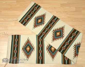 Southwestern Wool Table Runner 16x80 - Cream