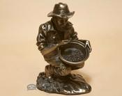 "Bronze Southwestern Metal Art 3"" - Gold Planner"