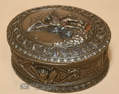 Bronze Southwestern Metal Art/Trinket Box - St. Michael