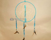 "Hand Woven Navajo Dream Catcher 12"" -Turquoise"