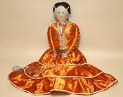 Handmade Southwestern Navajo Dress Doll