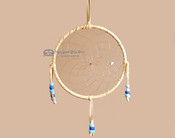 "Beaded Navajo 6"" Dream Catcher by Curtis Bitsui -Blue"