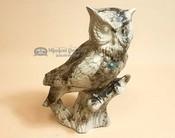 "Navajo Horse Hair Pottery Statue 10.5"" -Owl"