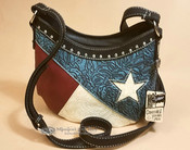 Western Concealed Carry Messenger Purse -Texas Lone Star