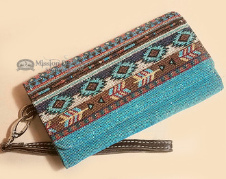 Southwest Tapestry Woven Wallet Clutch Bag