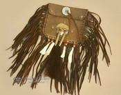 "Native American Medicine Bag 5x5"" -Elk Hide"