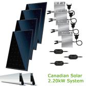 2.2kW Solar Panel Kit w/Canadian Solar & Enphase