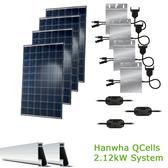2kW Solar Panel Kit w/Hanwha QCells & Enphase