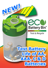 ECO Battery Bin Test and Recycle Battiers