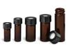 Wheaton W986356NG 2mL Amber Type I Borosilicate Glass V-Vials, 20-400 Open-Top Hole Cap, case/12