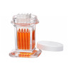10 Slide Glass Staining Jar With White Polypropylene Caps, case/6