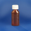 Amber Oval Pharmacy Bottles, Child Resistant Caps, 1 oz (30mL), case/100