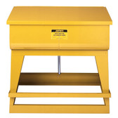 Justrite Rinse Tank, 22 gal Foot-Operated, Self-Close Cover, Floor Standing, Yellow