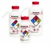 Nalgene 2436-0504 Wash Bottle Unitary RTK, Isopropanol, LDPE, Yellow, 500 mL, Case/24