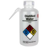 Nalgene 2436-0505 Wash Bottle Unitary RTK, Distilled Water, LDPE, Natural, 500mL, Case/24